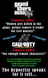 the hypocrisy