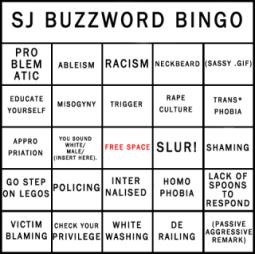 sjw buzzword bingo